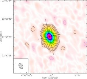 A map of the circumstellar disk around CI Tau. Credit: Stephane Guilloteau/University of Bordeaux