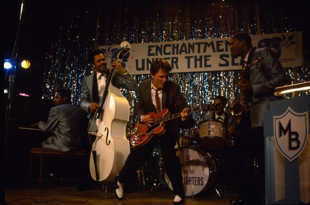 Marty introduces Rock and Roll to Chuck Berry, but Marty first heard it from Berry. Credit: Universal Pictures